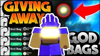 GIVING FANS GOD BAGS *troll scamming* | Roblox: Booga Booga