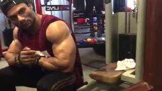 Wasim khan (Mr.Universe,Mr.World,Mr.Galaxy) concentration dumbbell higher repetition