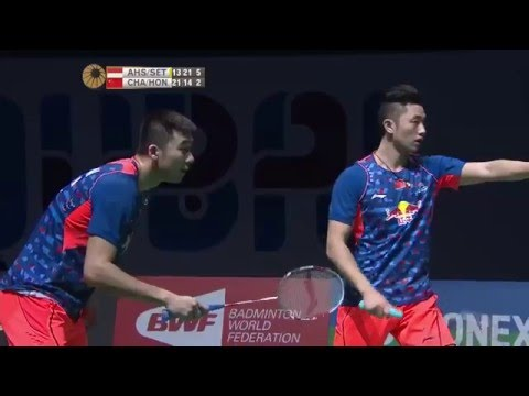 Dubai World Superseries Finals 2015 | Badminton F M5-MD | Ahs/Set vs Chai/Hong