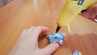 Цветы из лент своими руками /Банты для девочек своими руками