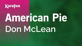 Karaoke American Pie - Don McLean *