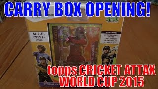 CLARKE 101-101 !!! ☆ CARRY BOX opening ☆ Topps CRICKET ATTAX ICC WORLD CUP 2015 Trading Cards