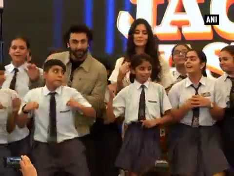 Watch: Ranbir, Katrina enthrall Ryan International School kids in New Delhi