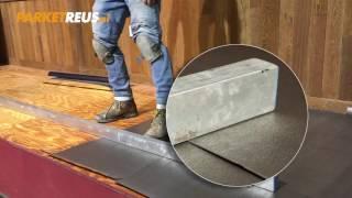 PARKETREUS-TV - LEGINSTRUCTIE - Uitvlakken en Parketfelt ondervloer leggen