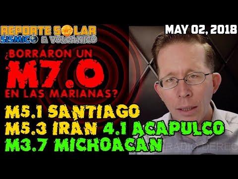 INCREÍBLE! ¿BORRARON UN M7.0 EN LAS MARIANAS? M5.1 CHILE M5.3 IRÁN, M4.1, M3.7 MICHOACÁN