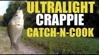 Ultralight Crappie While Bass Fishing (Delicious Catch and Cook)