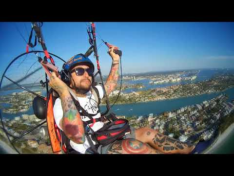 PitBull, Voando Paramotor na Florida, Voo local St. Pete Beach-FL 25-11-2017