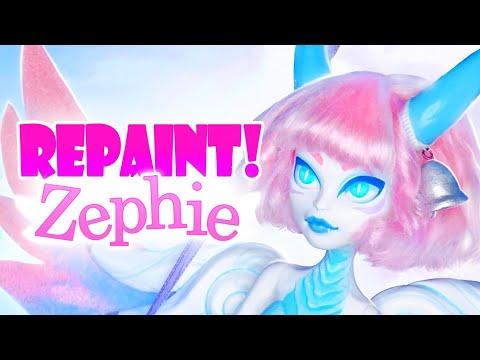 Repaint! Zephie The Air Dragon OOAK Monster High Doll
