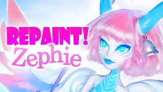 Repaint! Zephie the Air Dragon OOAK Monster High Doll