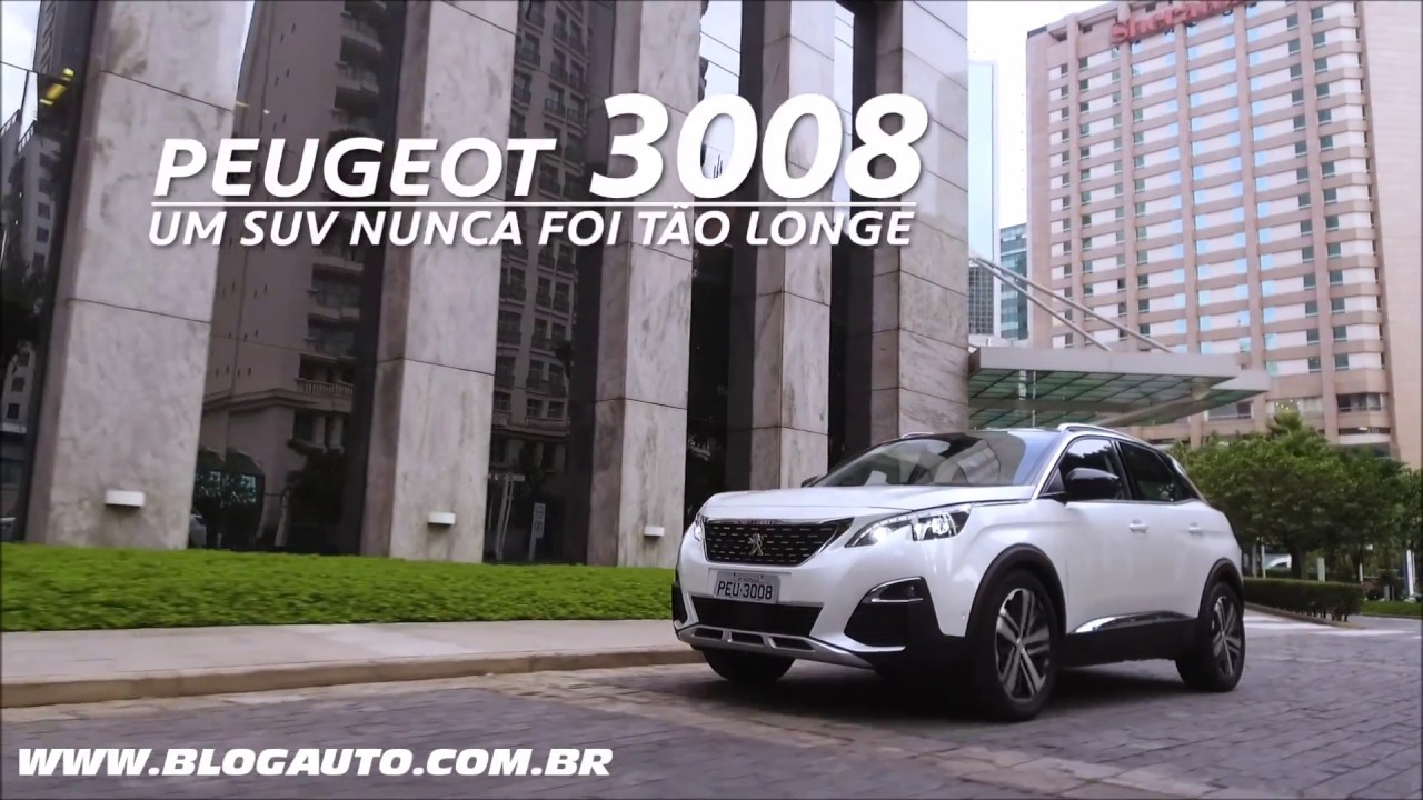 conhe a o peugeot 3008 2019 griffe pack com active safety brake blogauto youtube. Black Bedroom Furniture Sets. Home Design Ideas