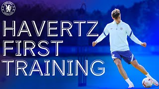 Kai Havertz's First Training Session At Cobham