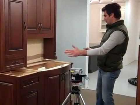kitchen and bathroom remodeling package laser measure countertop demonstration - youtube