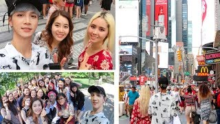 Tourists in New York City: Central Park, Times Square, & Opening Gifts!