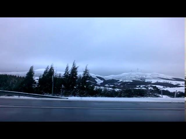 Gran nevada en A Gañidoira