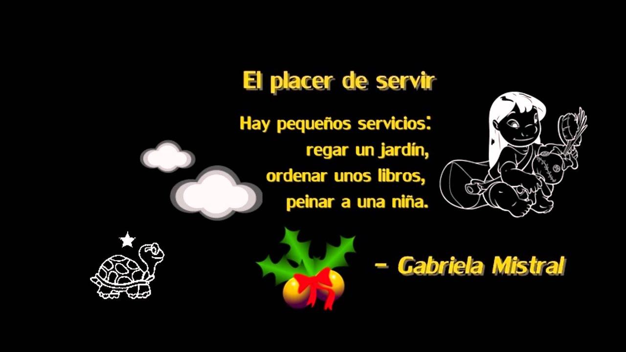 El placer de servir x Gabriela Mistral, ¿Sirvo o no sirvo? ¿Placer