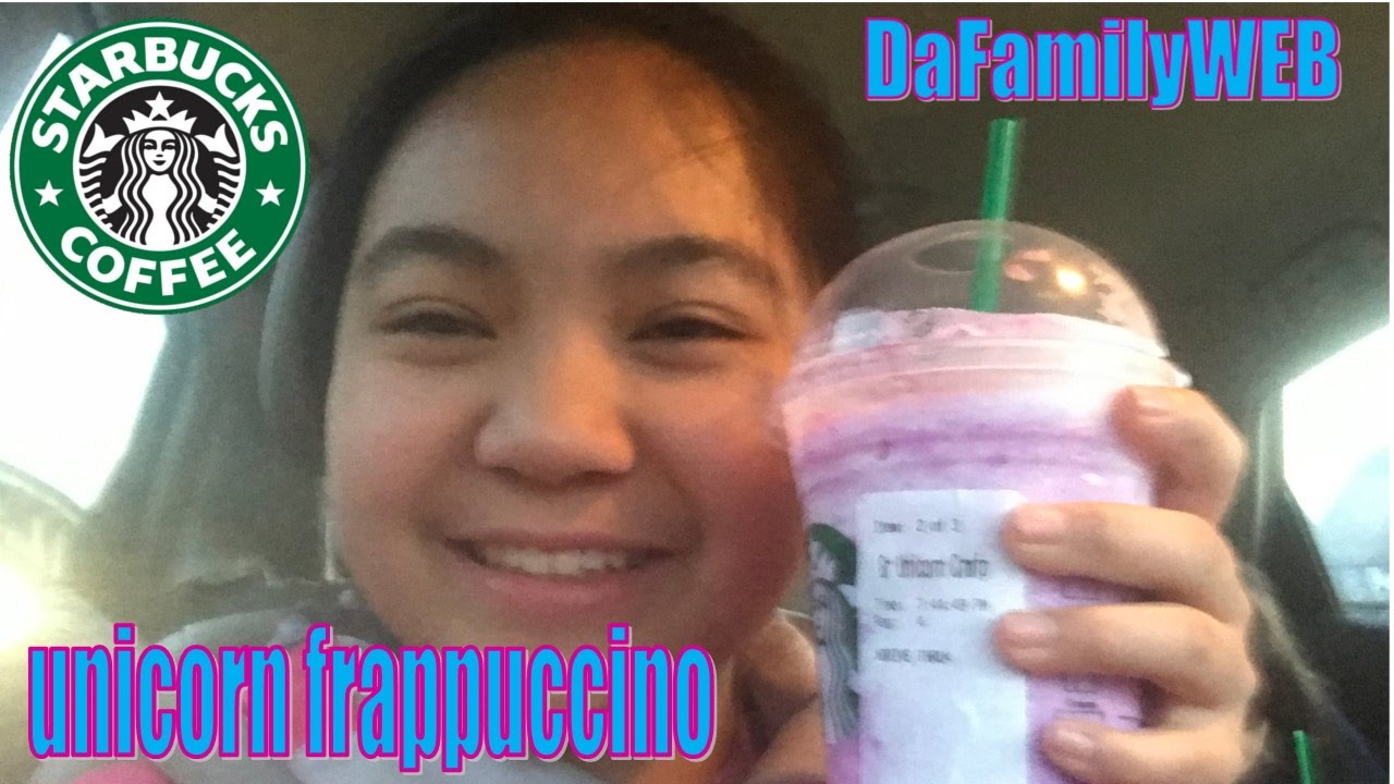 It S Unicorn Frappuccino From Starbucks Kids Trying The New Starbucks Drink