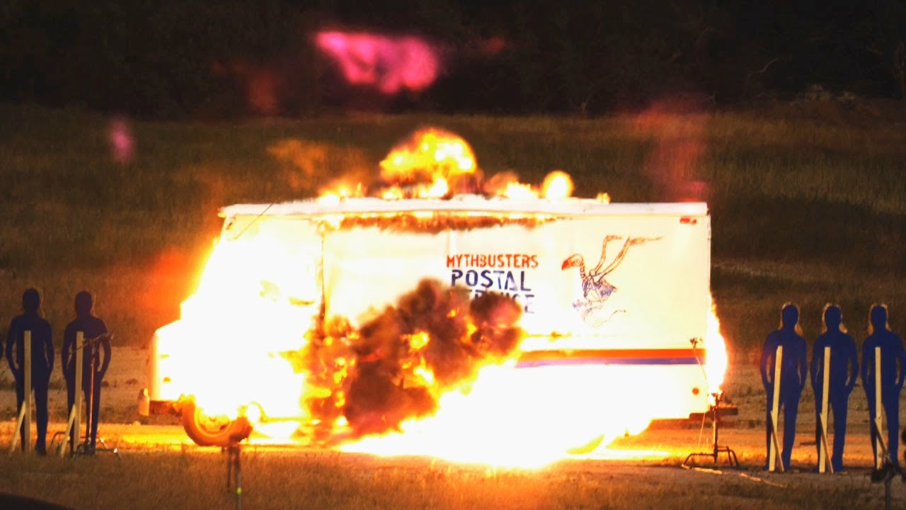 Macgyver mail truck explosion high speed mythbusters
