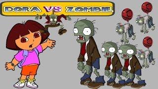 Мультик игра для детей Дора против зомби