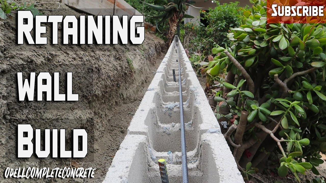 Retaining wall Build with Stucco: Step by Step