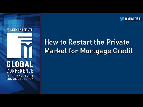 How to Restart the Private Market for Mortgage Credit