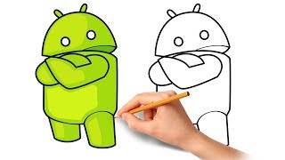 How to draw a Cartoon Android Logo