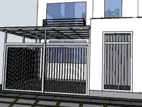 Techo cochera con policarbonato youtube - Pergolas metalicas para jardin ...