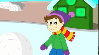 Развивающий мультфильм про зиму 'Наступила зима'  Зимний мультик для детей