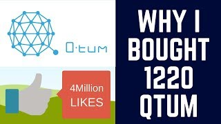 Why I bought 1220 QTUM