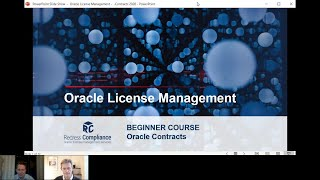 Oracle License Training: Oracle Licensing Agreements (BEGINNER COURSE)
