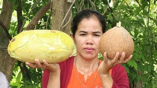 Yummy Cooking  Melon Dessert Delicious Recipe -Eating Dessert Sweet Delicious - Primitive Technology