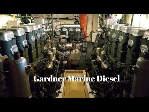 Gardner Marine Diesel - mirrored pair of 6L3B and 3LW Auxiliary