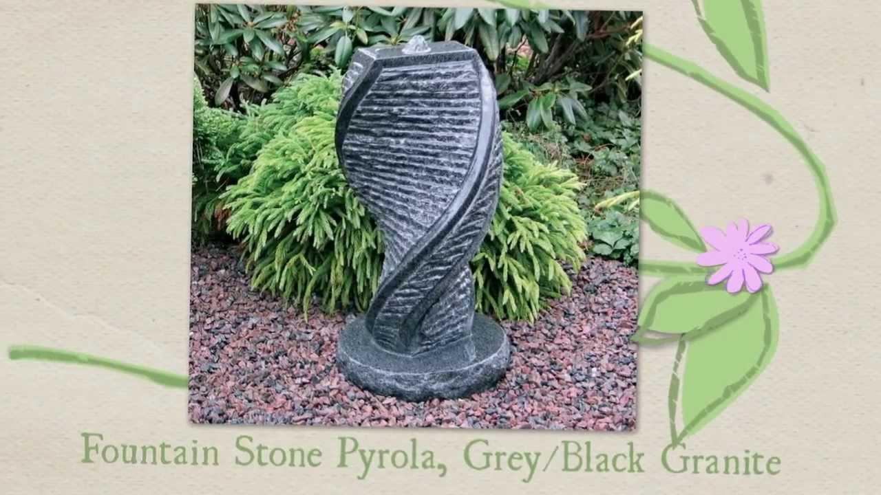How to build a garden fountain - Garden Art Granite Fountains How To Make A Garden Beautiful