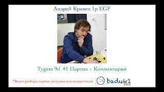 Игра ГО (Бадук) Андрей Кравец 1p EGF (lot003)