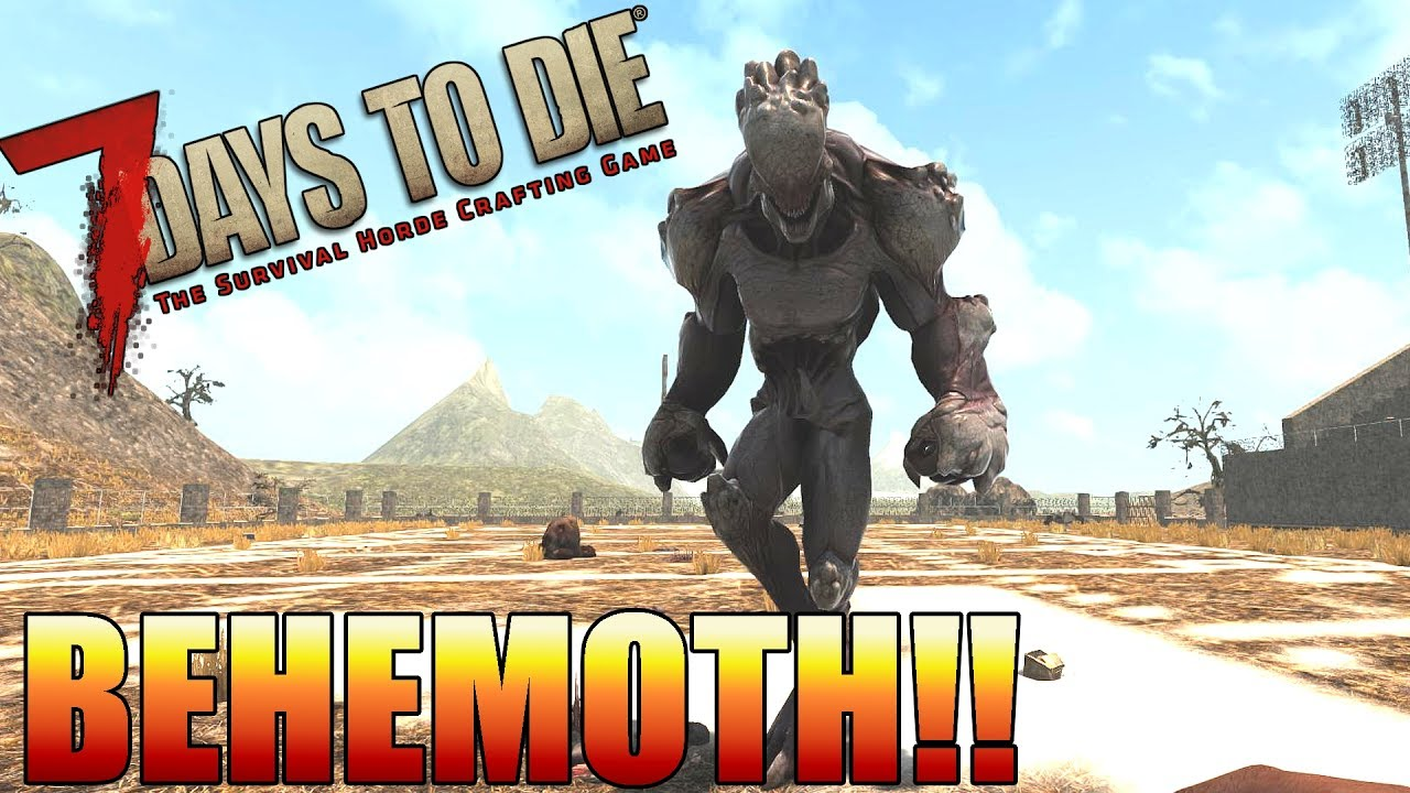 7 Days to Die BEHEMOTH!! - New and Upcoming NPCs & Zombies (Alpha 16) #1