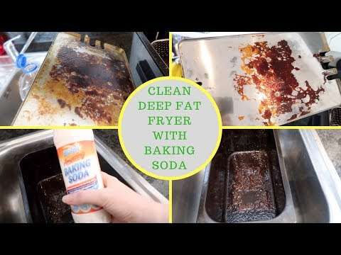 How to clean the deep fryer with baking soda