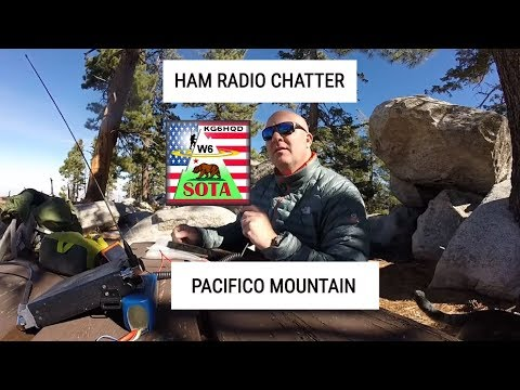 Ham Radio Contacts on Pacifico Mountain in San Gabriel Mountains Angeles National Forest