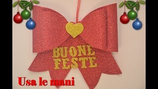 Fiocco di Natale in fommy. Christmas DIY