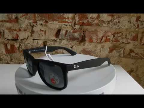 6b051b7fb3657 Óculos de Sol Ray-Ban Justin RB4165l 622 t3 55 - YouTube