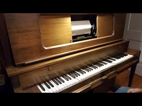 """1920 Waldorf Player Piano Plays Imperial 06561, """"Under The Moon."""""""