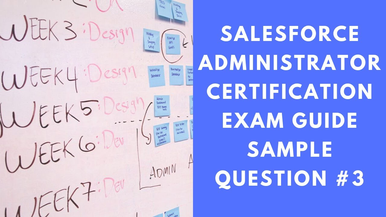Salesforce Administrator Certification Exam Guide Sample Question 3