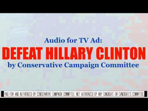 """""""Hillary is Wrong!"""" Audio for TV Ad by CCC PAC"""