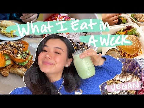What I Eat In A SUPER BUSY Week 🍔(vegan!!)