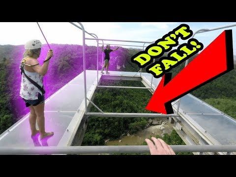 FIRST EVER GLASS WALKING IN THE PHILIPPINES (over canyon) | Danao, Bohol Philippines