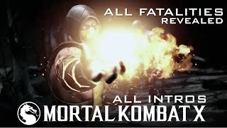 mortal kombat x all intros characters and fatalities revealed trailer montage
