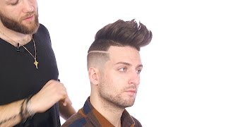 Skin Fade Disconnected Fohawk Haircut - TheSalonGuy