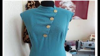 Моделирование асимметричной драпированой имитации застёжки на платье
