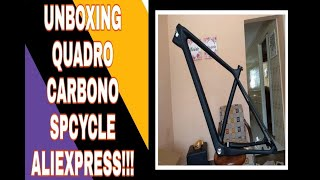 Unboxing quadro de carbono SPCYCLE 29aliexpress #aliexpress