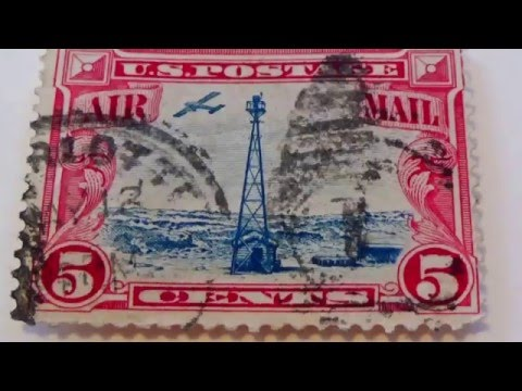 Video Of Old Postage Due & Air Mail Stamps