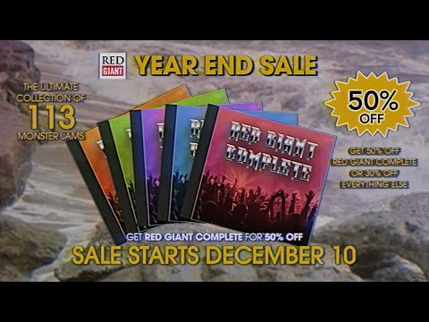 YEAR END SALE 2019 | Red Giant Year End Sale is coming December 10th!