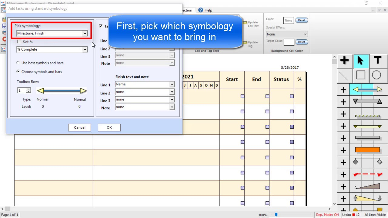 Milestones Professional Tutorial Link Rows To Microsoft Project